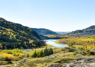 RED DEER RIVER VALLEY, ALBERTA